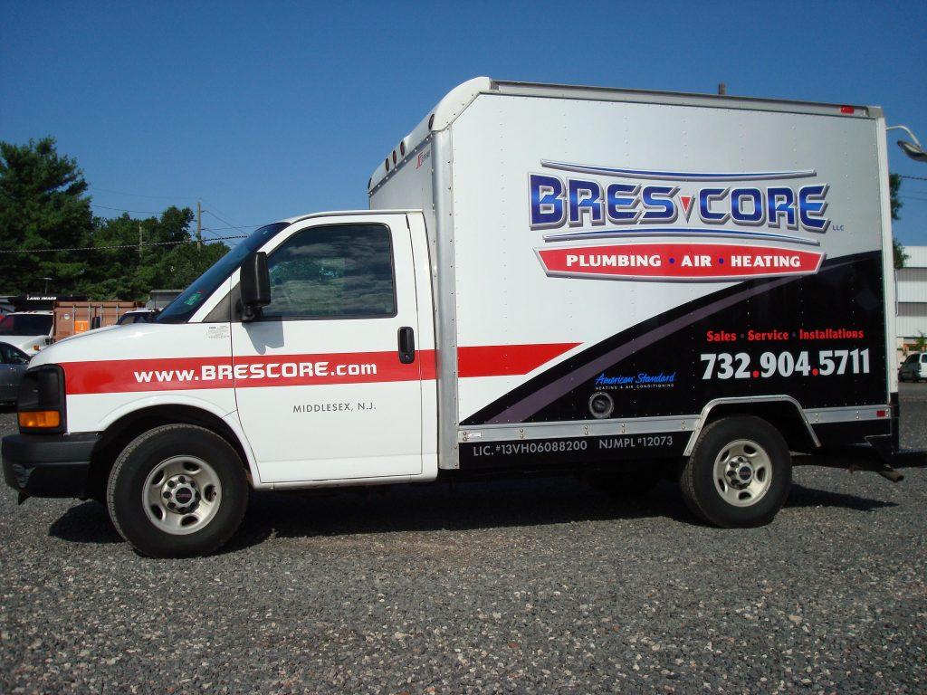 plumbing truck graphics