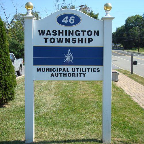 municipal utility signs