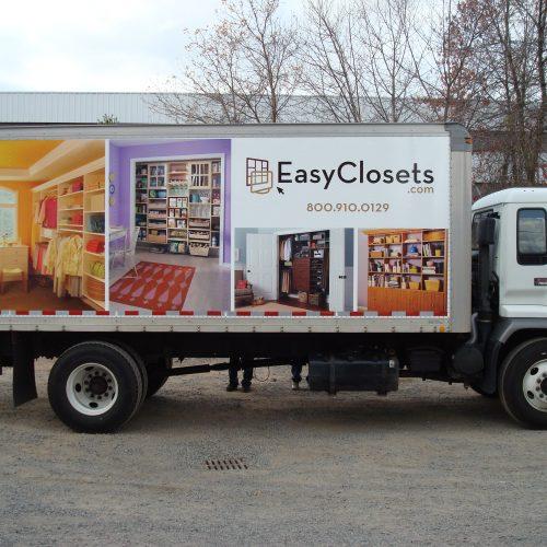 closet company truck graphics
