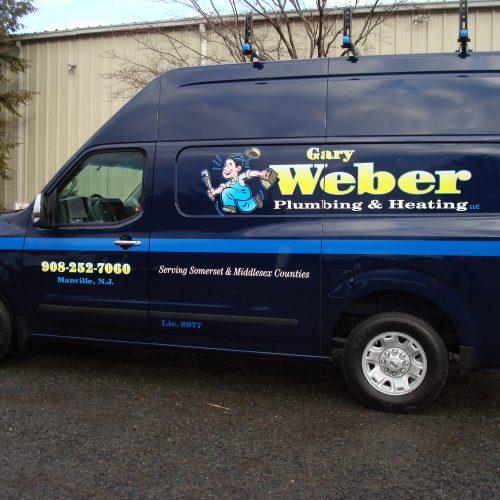 plumbing truck decal