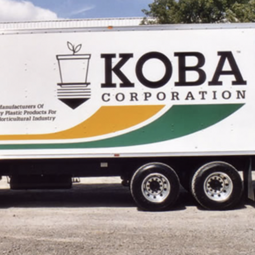 plastics manufacturer truck graphics
