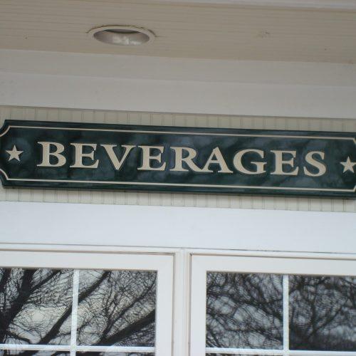 beverage sign