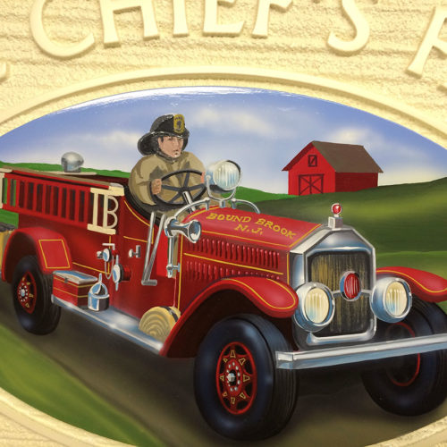 firetruck signage