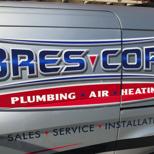 plumbing company truck