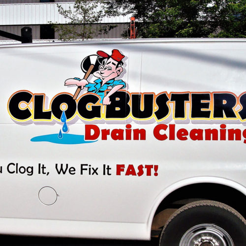 drain cleaning company van