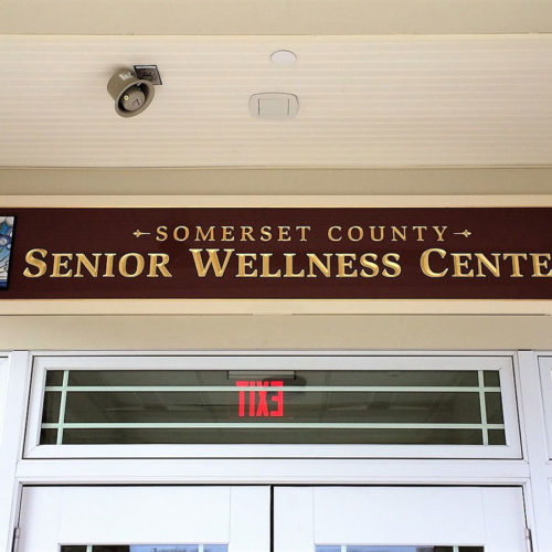 senior center new jersey signage